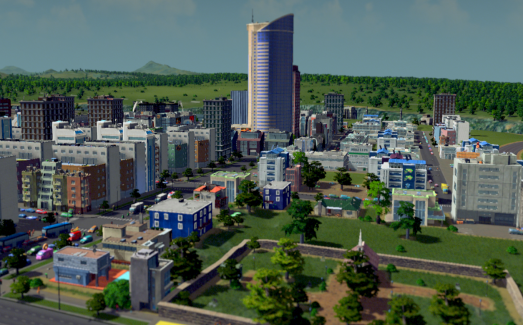 The bustling centre of my city. Not bad, eh?