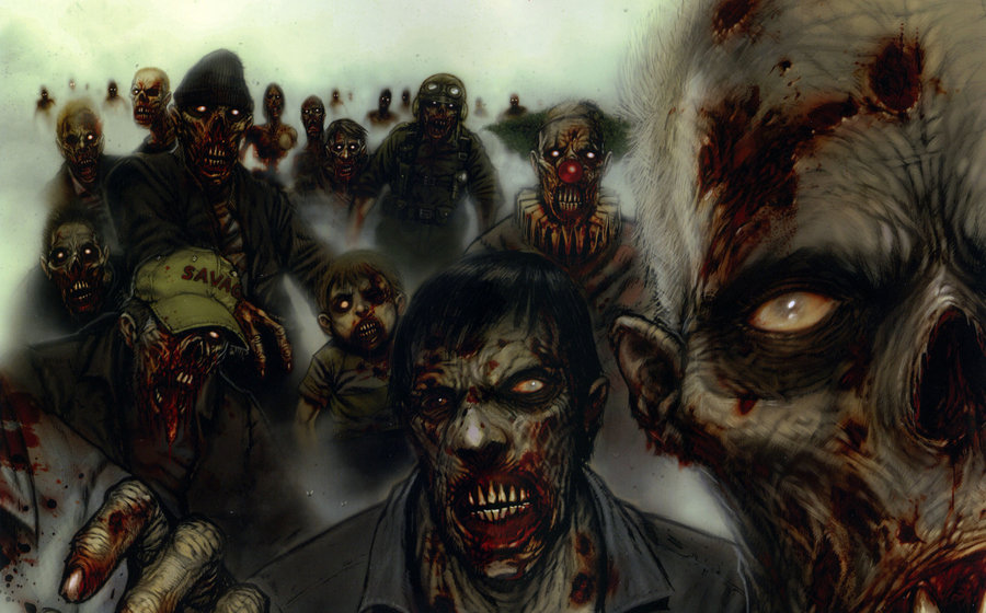 Zombie Army Assembling On Gaming Borders