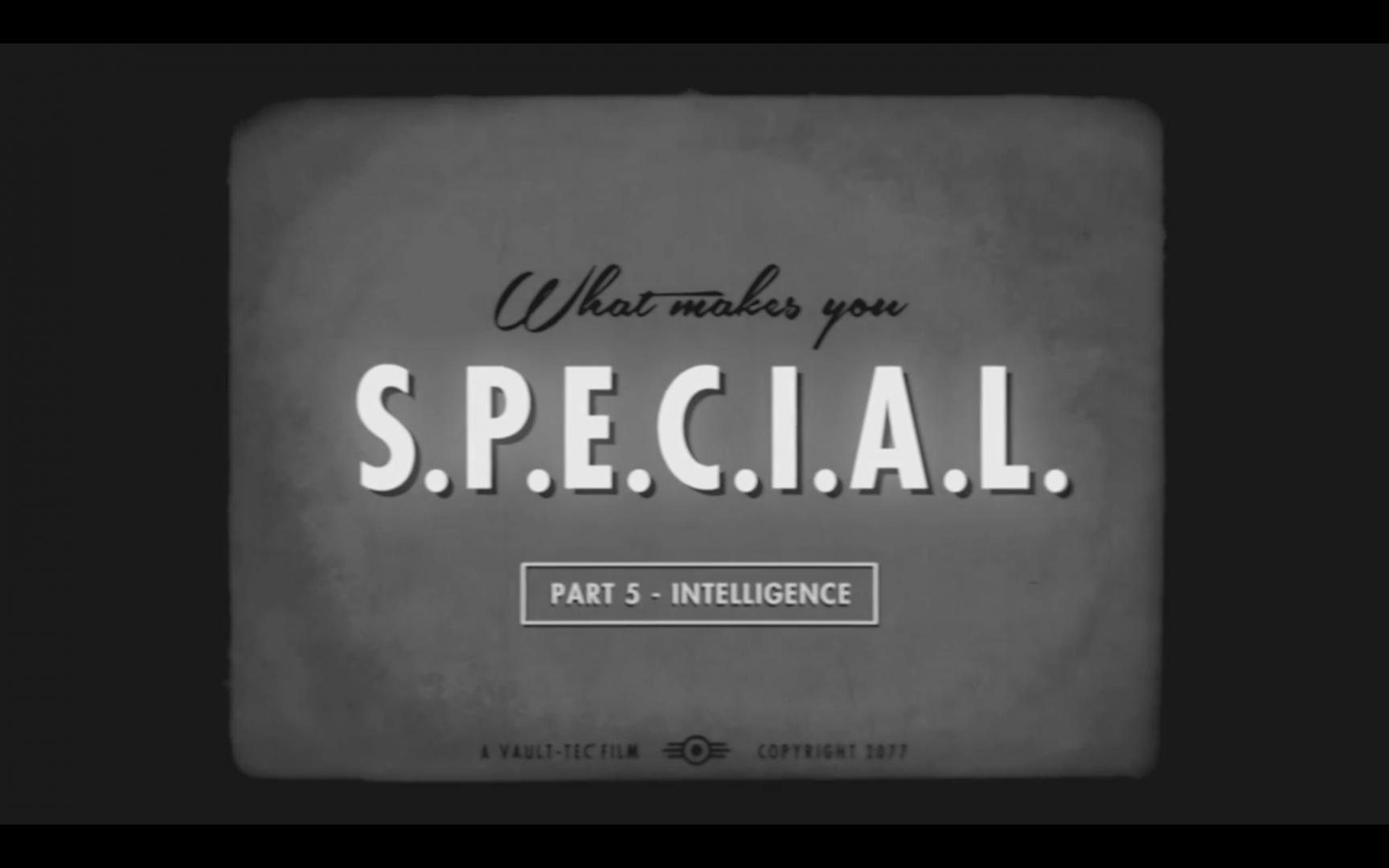 How to be S.P.E.C.I.A.L. and Intelligent in Fallout 4