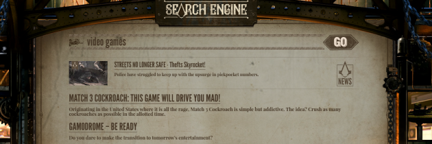 Assassin's Creed Syndicate: 19th Century Search Engine