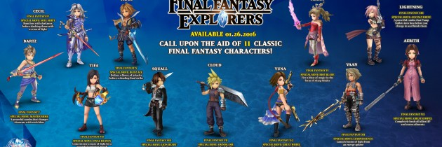 Final Fantasy Explorers To Feature Legendary Characters