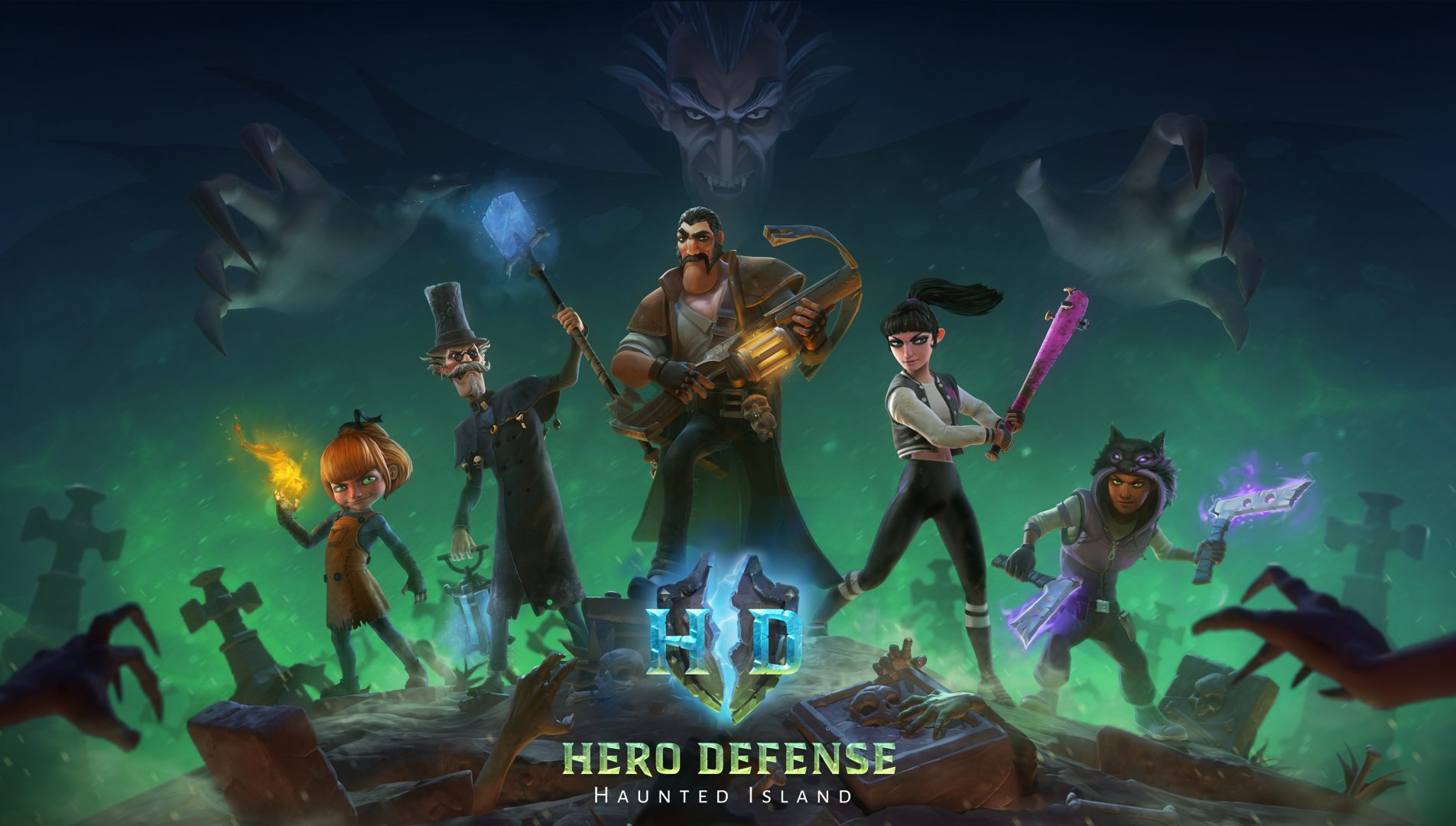 HeroDefense – Haunted Island Multiplayer Update Now Available