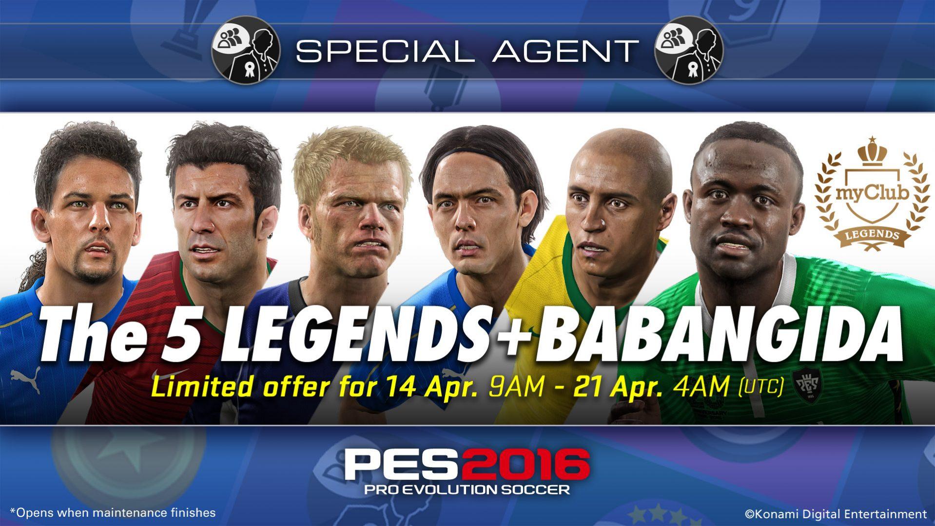 PES Legend Babangida returns in MyClub Mode