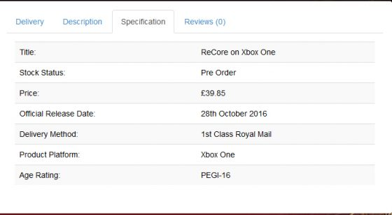 recore-release-date