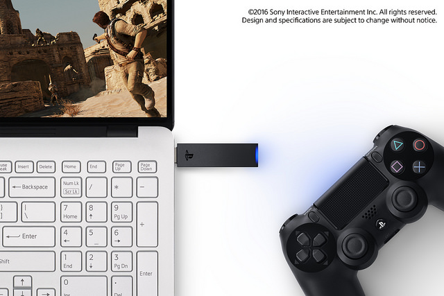 New DUALSHOCK 4 USB Wireless Adaptor Allows You To Control Compatible Applications via Bluetooth