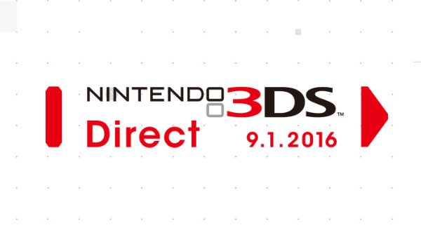 Nintendo Direct for 3DS Titles on September 1st