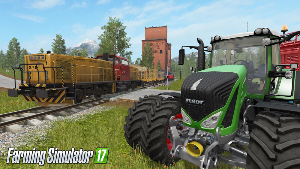 New Farming Simulator 17 Trailer Shows Off The Train's Usefulness