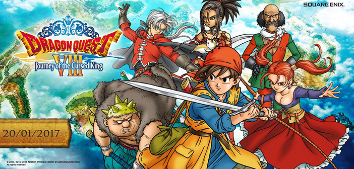 Save the Kingdom of Trodain When Dragon Quest VIII: Journey of the Cursed King Launches January 20th