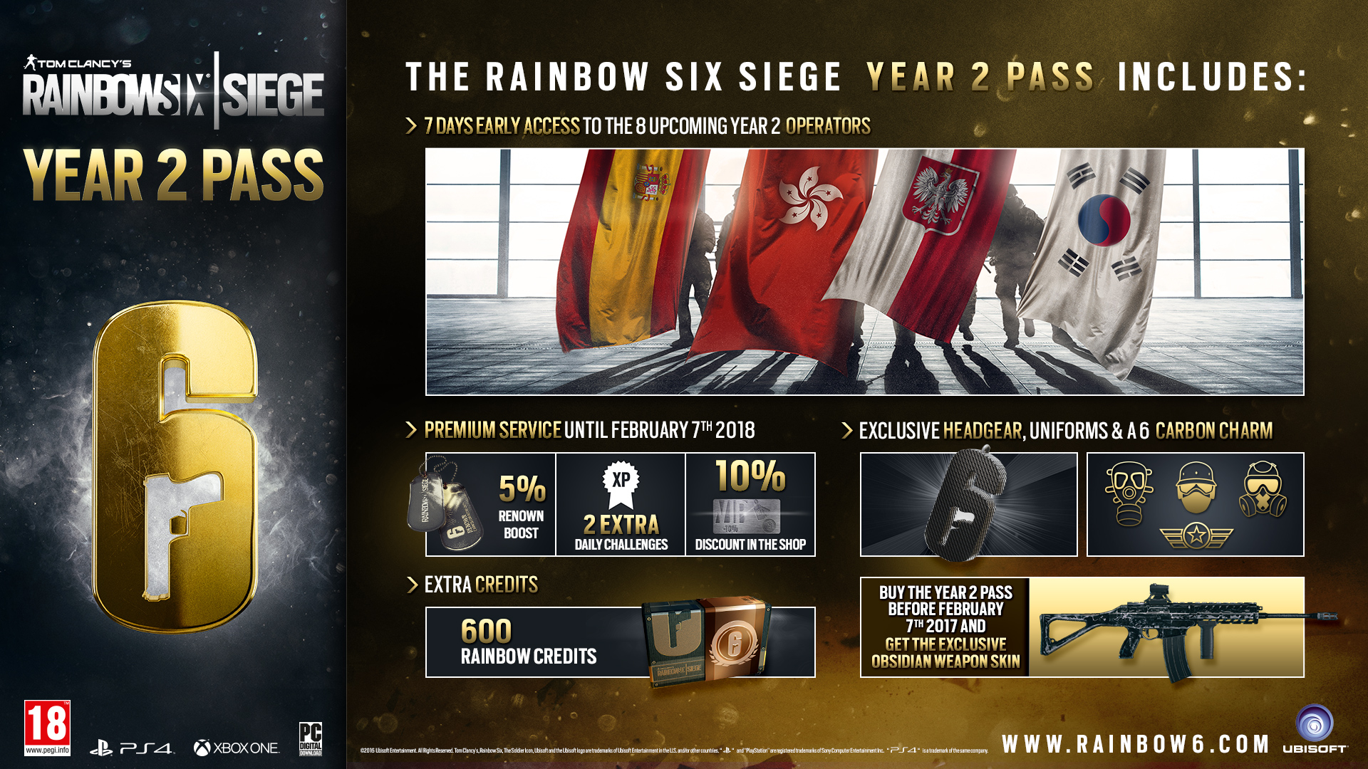 Rainbow Six Siege Year 2 Now Available
