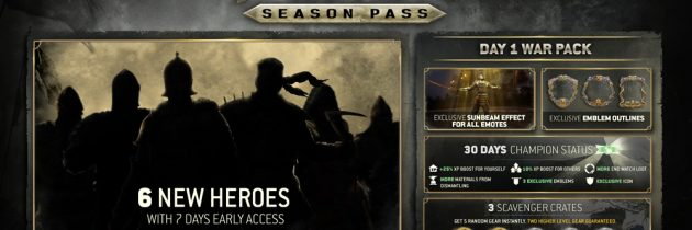 For Honor Season Pass Detailed