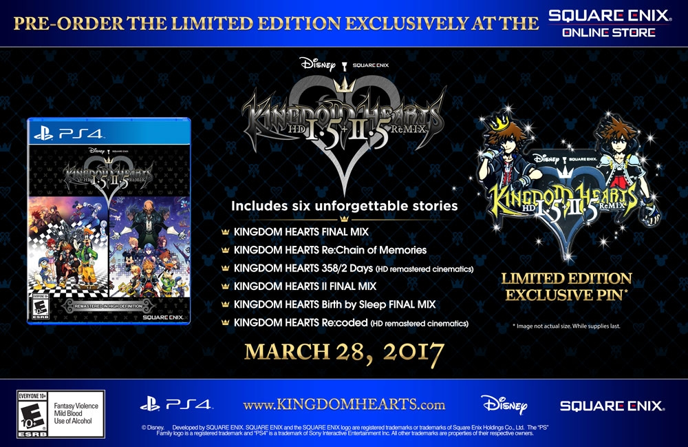 Kingdom Hearts HD 1.5 + 2.5 ReMIX Limited Edition Available for Pre-Order