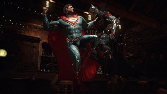 Batman vs Superman fight from Injustice 2