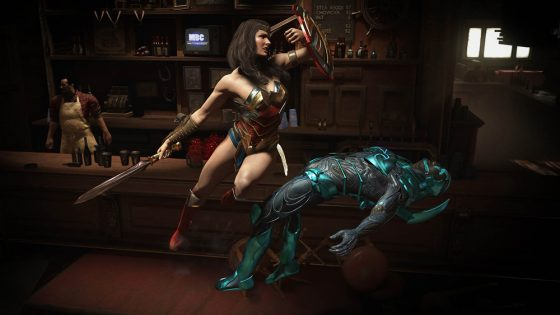 Wonder Woman takes on Blue Beetle