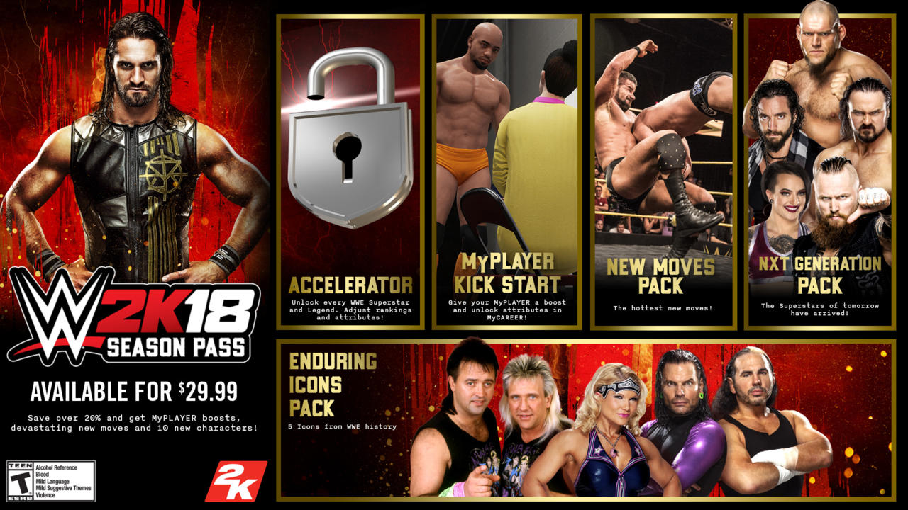 WWE 2K18 Season Pass Content Detailed