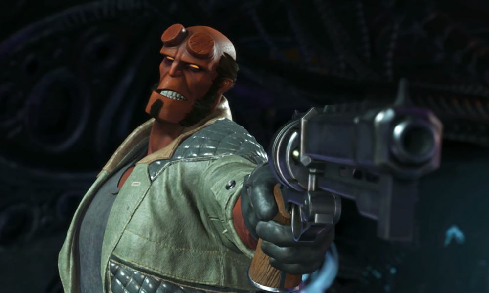 Hellboy Punching His Way To Injustice 2
