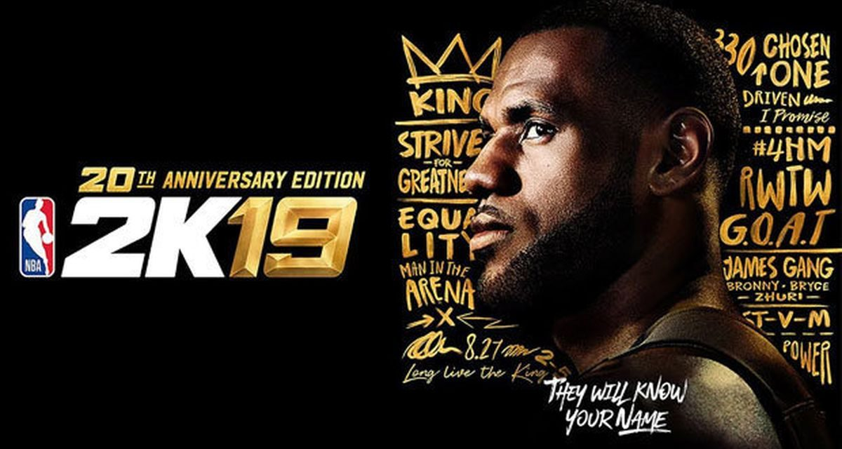 LeBron James Will Grace The Cover Of NBA 2K19's 20th Anniversary Edition